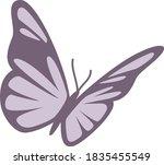 vector butterfly logo icon...   Shutterstock .eps vector #1835455549