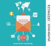 vector mobile app   email... | Shutterstock .eps vector #183546116