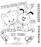 coloring book page for... | Shutterstock .eps vector #1835502550