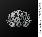 luxury golden royal lion king... | Shutterstock .eps vector #1835506570