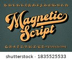 magnetic script is a bold... | Shutterstock .eps vector #1835525533