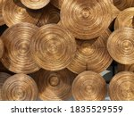 Gold Artificial Bamboo Pattern...