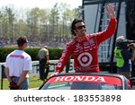 Birmingham Alabama USA - April 10, 2011: 10 Dario Franchitti, United Kingdom Chip Ganassi Racing - stock photo
