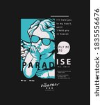 paradise slogan with baby angel ...   Shutterstock .eps vector #1835556676