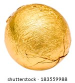 Golden Wrapped Candy Isolated...