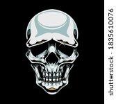 Chrome Skull Illustration And...