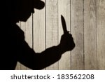 Human Silhouette With Knife In...