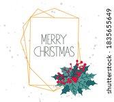 merry xmas post card. christmas ... | Shutterstock .eps vector #1835655649
