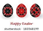 easter eggs   Shutterstock . vector #183568199