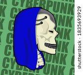 images of a cyberpunk skull...   Shutterstock .eps vector #1835693929