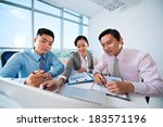 image of businesspeople... | Shutterstock . vector #183571196
