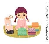 vector illustration cartoon of... | Shutterstock .eps vector #1835713120