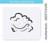 dust icon. smog storm. hand...   Shutterstock .eps vector #1835713150