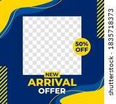 modern new arrival offer sale... | Shutterstock .eps vector #1835718373