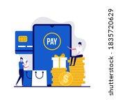 cash back or money refund... | Shutterstock .eps vector #1835720629