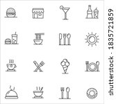 food courts icons set. outline... | Shutterstock .eps vector #1835721859