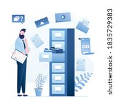 quick files or media content... | Shutterstock .eps vector #1835729383