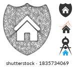 mesh realty insurance polygonal ...   Shutterstock .eps vector #1835734069