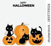 happy halloween greeting card...   Shutterstock .eps vector #1835735026