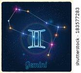 vector constellation gemini...   Shutterstock .eps vector #183577283