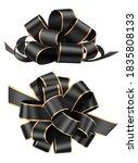 set of decorative black bows... | Shutterstock .eps vector #1835808133