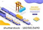 Freight Rail Transport Concept. ...