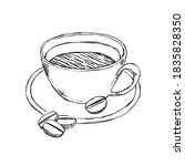coffee cup sketch style...   Shutterstock .eps vector #1835828350
