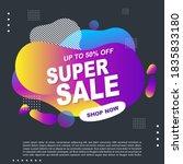 super sale fluid  liquid...   Shutterstock .eps vector #1835833180