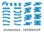 blue ribbons set. modern ribbon ...   Shutterstock .eps vector #1835834149