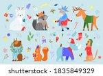 Christmas Animal Illustration...