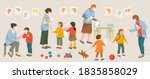preventions mesures in...   Shutterstock .eps vector #1835858029