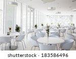 Stock photo interior of summer restaurant 183586496