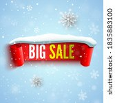 big sale banner with red ribbon ... | Shutterstock .eps vector #1835883100