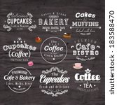 retro typography bakery and... | Shutterstock .eps vector #183588470