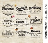 retro typography bakery and... | Shutterstock .eps vector #183588473