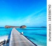 beautiful beach with water...   Shutterstock . vector #183588740