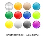 group of vectorial orbs with... | Shutterstock .eps vector #1835893