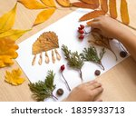 Autumn Craft From Dry Leaves ...