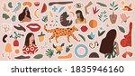 abstract trendy doodle art... | Shutterstock .eps vector #1835946160