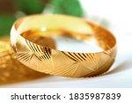 Gold Bangle Bracelets Concept...