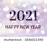 happy new year card with text...   Shutterstock .eps vector #1836021340