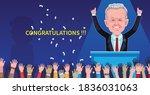 joe biden is win of the...   Shutterstock .eps vector #1836031063