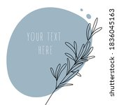 abstract line art leaf....   Shutterstock .eps vector #1836045163