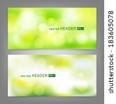 set of vector banners with...   Shutterstock .eps vector #183605078