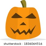 emotion pumpkin icon. cartoon... | Shutterstock .eps vector #1836064516