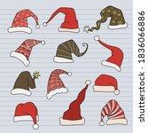 Big Set Of  Modern Santa Hats...