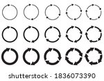 vector group of circular arrows.... | Shutterstock .eps vector #1836073390