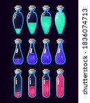 set of gui potion bottle icon...