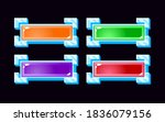 set of gui jelly button with...