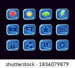 collection set of jelly icon...